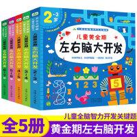 儿童左右脑开发宝宝智力开发潜能益智游戏书3-4-6岁幼儿园教材