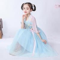女童汉服夏装儿童中国风童装唐装古风连衣裙春秋女孩古装裙子