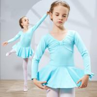 儿童舞蹈服装女童长袖幼儿练功服少儿连体体操服