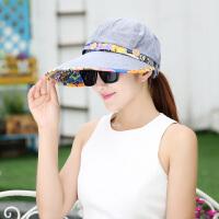 防晒帽子女夏天遮脸鸭舌太阳帽 户外折叠防紫外线骑电动车遮阳帽