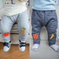 贝贝城童装儿童加绒加厚棉裤 韩版婴儿服装 水果秋冬宝宝裤子长裤