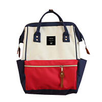 双肩包女学院风学生双肩书包时尚背包大容量背包离家出走包妈咪包