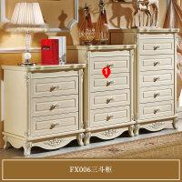 家具欧式五斗柜卧室实木抽屉柜简约收纳柜手工雕花三斗橱 FX006三斗柜 组装