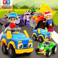 奥迪双钻精灵机灵宠物车儿童电动工程小汽车35男孩4岁6套装玩具