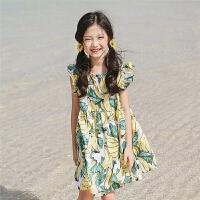 女童裙子夏季新款韩版儿童海边度假碎花连衣裙中大童沙滩裙小女孩