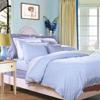 富安娜家纺 床上用品简约波点全棉四件套 玻璃球 1.8米床适用(230*229cm)浅蓝色