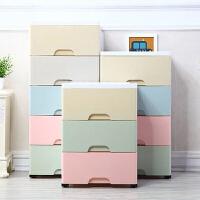 收纳柜 马卡龙多层抽屉式收纳柜 儿童玩具杂物简易塑料组合五层收纳柜