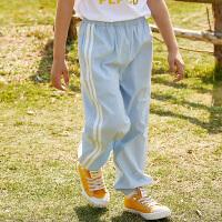 【3件3折到手价:81】小猪班纳童装男童裤子女童长裤2020年新款春夏运动裤