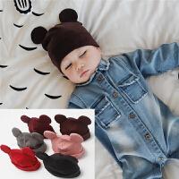 婴儿帽子春秋男女宝宝套头帽 新生儿0-1岁小宝宝睡觉帽弹力纯色帽