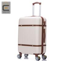 复古拉杆箱旅行箱万向轮皮箱行李箱子20 22 24寸登机箱女学生韩版 20寸