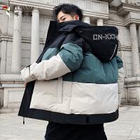 啄木�B 2020新款男士棉衣外套保暖上衣