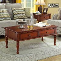20190809100432992欧式沙发边柜储物柜实木小方桌美式简约客厅正方形角几边几边桌 板栗色 120*60*5