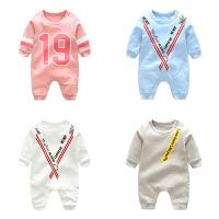 新生儿婴儿童连体衣服3个月1岁春季款长袖童宝宝薄款哈衣
