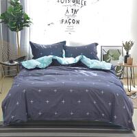 【下单减50】OLYI 纯棉床上用品四件套 全棉斜纹印花床单式家纺四件套 纯棉床品四件套 床上四件套