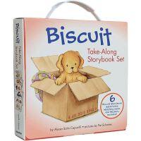 小饼干狗 英文原版 绘本汪培�E书单推荐 0-3岁 Biscuit Take-Along 6 Book Box Set