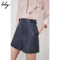 【此商品参加2件2折,预估到手99.8元】Lily春夏新款女装A字舒适棉口袋短裤休闲裤118240C5524