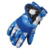 冬季滑雪儿童手套 户外保暖防水小孩五指卡通学生加厚男女童手套