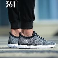 【折上1件6折 2件5折】361男鞋2018夏季新款针织网面跑步鞋361度正品男361°