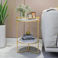 北欧沙发边几圆桌边柜迷你小茶几简约现代创意铁艺角几大理石圆几