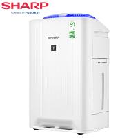 夏普(SHARP)空气净化器 KC-WG605-W 净化除菌加湿 除雾霾除甲醛 异味 PM2.5 wifi互联 空气实