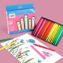 儿童不脏手塑料蜡笔24色36色安全无毒画笔绘画婴幼儿园油画棒三角形彩色腊笔宝宝涂鸦美术笔套装