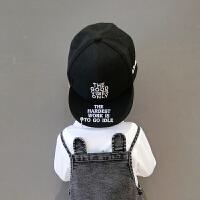 儿童春季帽子男女童遮阳铁环字母鸭舌帽宝宝百搭嘻哈棒球帽潮