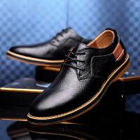ROWOO 2016新款男士真皮休闲皮鞋头层牛皮日常商务休闲男鞋透气防滑英伦系带驾车板鞋 货到付款