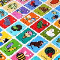 美乐儿童卡片早教英语单词识字0-1-3岁6婴儿幼儿宝宝益智认知闪卡