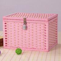 玩具收纳盒带锁收纳盒可以小箱子凭证储物柜上锁的饰整理