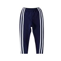 小猪班纳童装中大童裤子女童运动裤小孩休闲裤秋季儿童条纹长裤