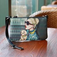 新款印花手拿包女卡通手抓包迷你包女手提小包包零钱手机包 范 少量