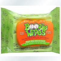 美国Boogie Wipes鼻涕虫湿纸巾30抽 宝宝不怕擦鼻涕