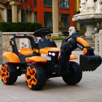 儿童电动挖掘机玩具遥控车可坐人大号充电电动工程车男女孩挖土机 橘色|双电双驱+大电瓶2个6v7A 带遥控 官方标配