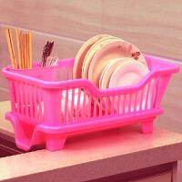 红兔子(HONGTUZI) 厨房置物架 塑料加厚滴水碗碟收纳架 滤水沥水碗碟架(侧漏水)置物架