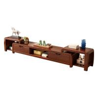 实木电视柜简约中式现代电视柜2米客厅原木伸缩地柜经济型组装