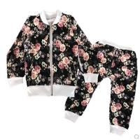 女童运动套装春秋装儿童开衫宝宝裤子两件套小女孩衣服2-3-4-5岁