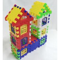 新型大号儿童益智方块塑料拼装拼插积木房子组拼装幼儿园早教玩具