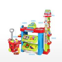 儿童扮演玩具 超市小货摊 售货收银货车过家家