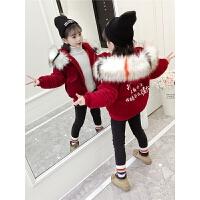 女童面包服潮6棉袄7小女孩女宝宝冬装短款棉衣