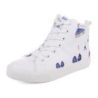 短靴女冬季加绒保暖绣花棉鞋女纯色休闲小白鞋女雪地靴子