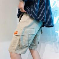 港风多口袋潮工装短裤五分裤夏天休闲裤5分裤宽松大裤衩