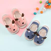春秋1-3岁婴幼儿男童宝宝拖鞋防滑柔软女童儿童家居鞋