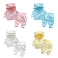 婴儿童装男童冬装套装新款儿童秋冬男孩加绒加厚卫衣两件套