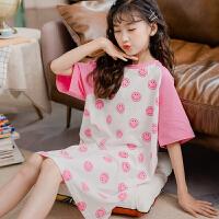 女童家居服睡裙儿童中大童夏季薄款女孩夏天睡衣睡裙女孩