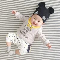 婴儿连体衣服春装0岁3个月宝宝新生儿满月哈衣季外出服新年