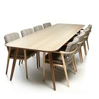 北欧实木办公桌长方形实木会议桌长桌简约现代洽谈桌大桌子工作台