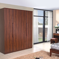 御品工匠 实木四门大衣柜 现代中式组合家具平拉平衣橱K0215