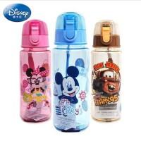 夏天水杯迪士尼塑料水杯米奇儿童小孩卡通水壶小学生水杯 防漏直饮杯