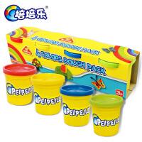 4色儿童橡皮泥3D彩泥套装手工玩具