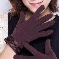 保暖防寒不倒绒韩版款触摸屏手套女 秋冬开车防滑女士手套